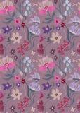 Het bloemenpatroon van Nice in mooie bloemen Leuk bloei ontwerp Ditsyachtergrond met bloemen Stock Fotografie