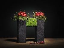 Het bloemstuk van de herfst Stock Foto