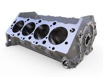 Het blok van 3D cilinders geeft terug Royalty-vrije Stock Afbeelding