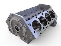 Het blok van 3D cilinders geeft terug Royalty-vrije Stock Foto