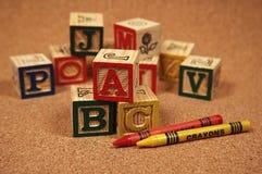 Het Blok van de baby stock foto