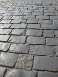 Het blok van de steen in het rode vierkant Royalty-vrije Stock Foto's