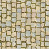 Het Blok van de steen met Gras - Naadloze Achtergrond royalty-vrije stock foto's
