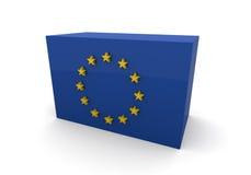 Het blok van de Vlag van de Europese Unie vector illustratie