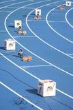 Het blok van het begin van sprinters Stock Fotografie