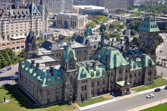 Het Blok van het oosten van Parlementsgebouwen, Ottawa Stock Afbeelding
