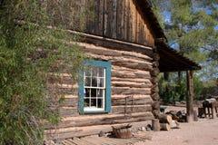 Het Blokhuis van de Cowboy van Wilde Westennen Stock Afbeeldingen