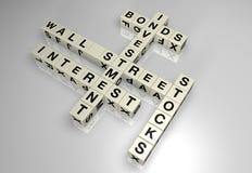 Het blokraadsel 1 van Wall Street Stock Afbeeldingen