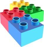 Het blokvector van het stuk speelgoed stock illustratie