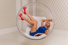 Het blonde in de studio Royalty-vrije Stock Foto