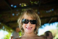Het blonde jongen glimlachen Royalty-vrije Stock Foto