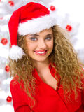Het Blonde Kuiken van Kerstmis Stock Foto