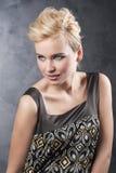 Het blonde maniermeisje Royalty-vrije Stock Fotografie