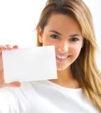 Het blonde meisje glimlachen Royalty-vrije Stock Afbeelding