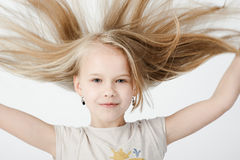 Meisje in studio Royalty-vrije Stock Afbeelding