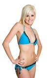 Het blonde Meisje van de Bikini Stock Afbeelding