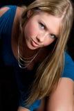 Het blonde Meisje van de Manier stock afbeeldingen