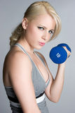 Het blonde Meisje van de Training Royalty-vrije Stock Fotografie