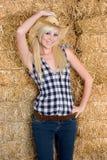 Het blonde Meisje van het Land Stock Foto's