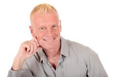Het blonde mensenjaren '40 glimlachen Stock Fotografie