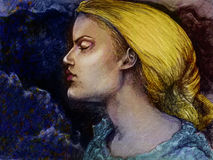 Het blonde Portret van de Vrouw Stock Afbeeldingen