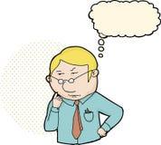 Het blonde Professionele Mens Denken stock illustratie