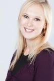 Het blonde vrouw glimlachen Royalty-vrije Stock Afbeeldingen