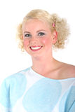 Het blonde vrouw glimlachen Royalty-vrije Stock Foto