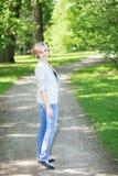 Het blonde weggaan Stock Fotografie