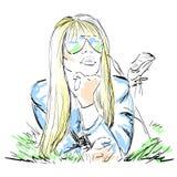 Het blondemeisje Royalty-vrije Stock Foto