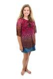 Het blootvoetse Meisje van 12 Éénjarigen Stock Foto's