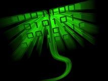 Het bochtige binaire codegegevens stromen Stock Afbeelding