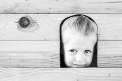 Het boe-geroep van Peeka Zwart-witte reeks Royalty-vrije Stock Afbeeldingen