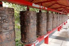 Het boeddhisme bidt wiel royalty-vrije stock afbeeldingen