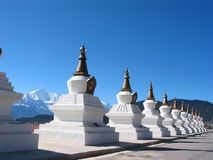 Het Boeddhisme Chorten van Tibet royalty-vrije stock foto's