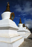 Het Boeddhisme Chorten van Tibet Royalty-vrije Stock Afbeeldingen