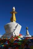 Het Boeddhisme Chortens van Tibet stock foto's