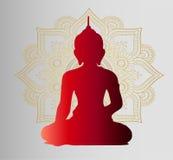 Het boeddhisme is godsdienst en cultuur Oorspronkelijke affiche Royalty-vrije Stock Foto's