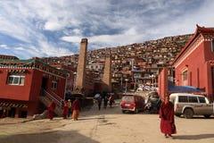 Het boeddhismeuniversiteit van Larong Wuming van Seda Stock Foto's