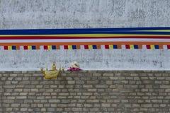 Het boeddhistische aanbieden in Anuradhapura, Sri Lanka Stock Fotografie