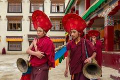 Het Boeddhistische festival van Yurukabgyat in Lamayuru Gompa, Ladakh stock afbeelding