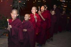 Het Boeddhistische klooster van jongensmonniken, Katmandu, Nepal, 2017 December Royalty-vrije Stock Foto