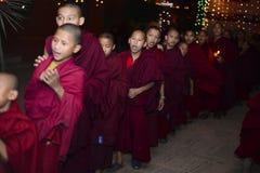 Het Boeddhistische klooster van jongensmonniken, Katmandu, Nepal, 2017 December Royalty-vrije Stock Foto's