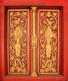 Het boeddhistische kloostervenster, Laos Stock Afbeeldingen
