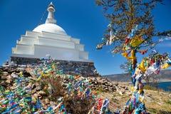 Het Boeddhistische mortier op het eiland Ogoy Stock Afbeeldingen