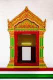 Het boeddhistische Venster van de Tempel Stock Foto's