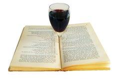 Het boek en de wijn Royalty-vrije Stock Fotografie