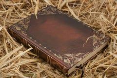 Het boek op hooi Wereldreli royalty-vrije stock fotografie