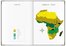 Het boek van Afrika Royalty-vrije Stock Afbeeldingen