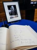 Het boek van condoleances voor Helmut Kohl bij het Europees Parlement Royalty-vrije Stock Fotografie